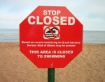 closed beach sign